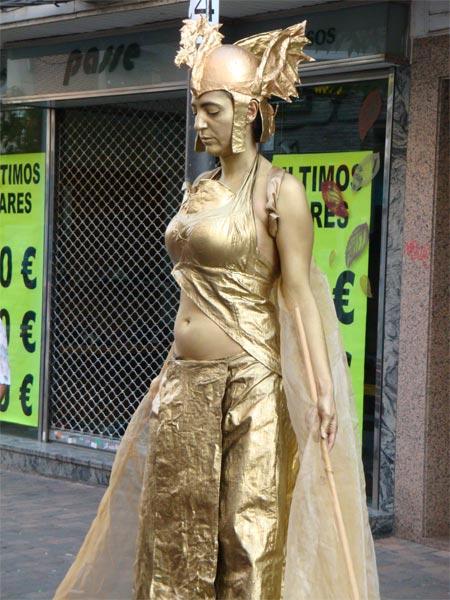 Ariadna concurso estatuas humanas Leganés