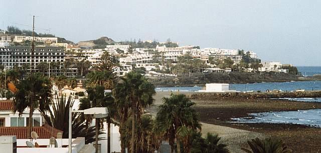 Cola del huracan Flacon sobre el Sur de isla Gran Canaria