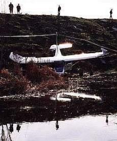 Avioneta estrellada junto al arroyo Butarque