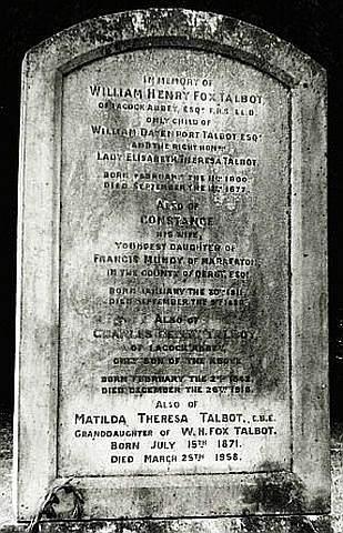 Tumba de William Henry Fox Talbot