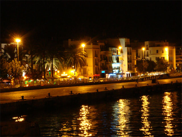Eivissa city by night