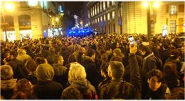 protesta por el desalojo del @HotelMadrid15O