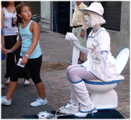 Estreñida XI certamen Estatuas Humanas Leganés 2012