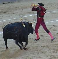 De la Sierra, El Chano y Angel Otero Chico banderillearon y ayudaron a lidiar los toros a Frascuelo Robbo Vs Banksy
