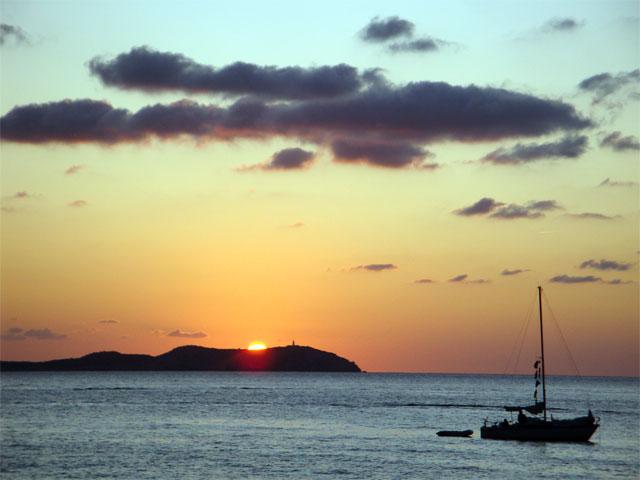 Sunset desde Calo d´es Moro en Sant Antoni