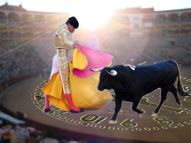 - Al abrir el reloj se ve en la esfera el ruedo duna plaza toros, gregueria de Ramón Gómez de la Serna