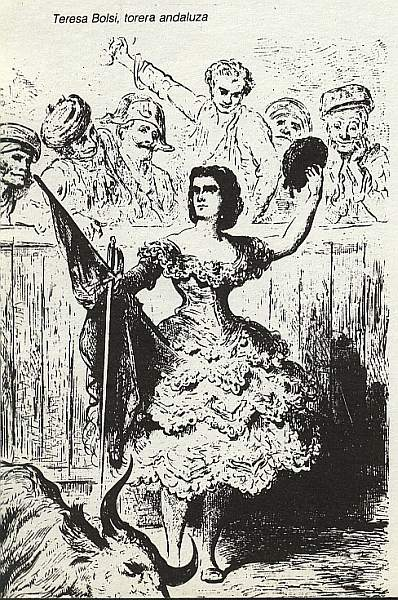 Teresa Bolsi, Torer@ andaluz de Gustave Dore durante su viaje a España de 1862 #carmenadas13tv Marhuenda